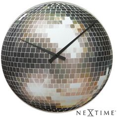 Nextime Disco Clock disco ball clock from Red Candy New Year Clock, New Year 2014, Daylight Savings Time, Flat Ideas, Mirror Tiles, Red Candy, New Year Celebration, Disco Ball, Important Dates