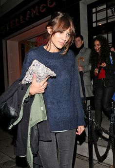 Alexa Chung  at Stella McCartney's Store