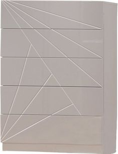 The bedroom by Wade Logan speaks volumes through simplistic details. The modern design made with artistic array of angles features a beautiful white and light grey lacquer finish & an elegant leatherette chest.