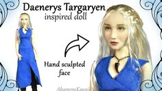 How to: Daenerys Targaryen ( Game Of Thrones ) inspired Doll / Repaint -. Diy Ooak Doll, Ooak Dolls, Barbie Dolls, Doll Videos, Doll Tutorial, Doll Repaint, Custom Dolls, Ball Jointed Dolls, Doll Accessories