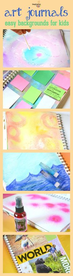 art journals easy backgrounds for kids to make