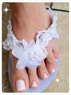 5d79752e2a308 Wedding Flip Flops Sandals.White Flip Flops.Bling Flip Flops. Wedding Shoes.Destination  Wedding.Beach Bride