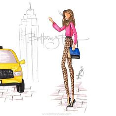 TAXI!! Running late for a breakfast meeting #nyfw #fashionweekdiary