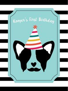 Backdrop Poster from a Pupstachio Mustache Doggy Birthday Party via Kara's Party Ideas   KarasPartyIdeas.com (28)