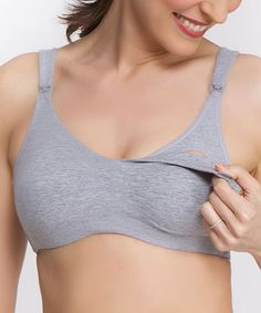 de9f396c26 QT Intimates Gray Natalie Maternity Nursing Bra - Plus Too