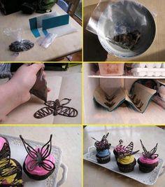 farfalle di cioccolato preparazione
