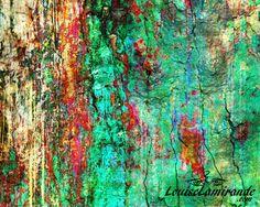 """""""Nature numérique"""" (Digital Nature) Peinture hybride, fusion techniques mixtes et numérique. Février 2015. © 2015, Louise Lamirande. http://louiselamirande.com/le-temps-la-mortalite-et-deux-peintures-hybrides/  Digital painting created with my original mixed media paintings and pure digital effects. http://en.louiselamirande.com/project/nature-numerique-digital-nature/"""