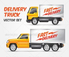 Vector Delivery Truck