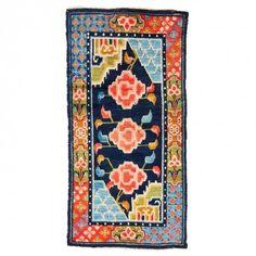 """Vintage Tibetan Wool Rug - 2'5""""x4'11"""""""