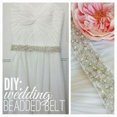 How to make your own beaded belt for your wedding dress its diy beaded belt tutorial wedding dress belt solutioingenieria Images