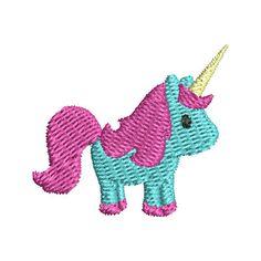 Mini Unicorn 1.50 x 1.32 inches (2,149 stitches) 2.00 x 1.77 inches (3,114 stitches) 2.51 x 2.21 inches (4,322 stitches)