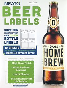 Got Engagad? Ask Your Groomsmen or Bridesmaid to be in your wedding! Neato Blank Beer Bottle Labels - 40 pack - Water Resistantant ... https://www.amazon.com/dp/B00YB1HA6Q/ref=cm_sw_r_pi_dp_x_WXewybMENJHG1  Got Engaged? These labels are great to ask your family and friends to be in your wedding bridal party!  You will not be disappointed with these beer bottle labels. No cutting paper of any kind. They are already pre cut for you.