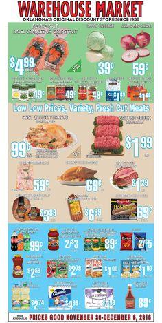 Warehouse Market Weekly Ad November 30 - December 6, 2016 - http://www.olcatalog.com/warehouse-market/warehouse-market-weekly-ad.html