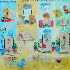 Holiday Home by clairebaroneabstract on Etsy