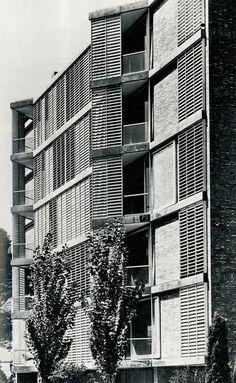 J. A. Coderch | Viviendas en Joan Sebastian Bach | 1957 | HIC Arquitectura