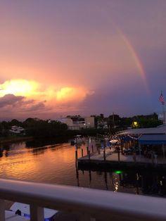 Sunset at Twisted Tuna, Port Salerno, Fl August 3, 2014.