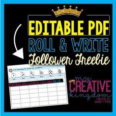 EDITABLE PDF Roll an