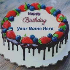 My Name Pix Birthday Cake Names Happy With Edit Write Your On Cakes