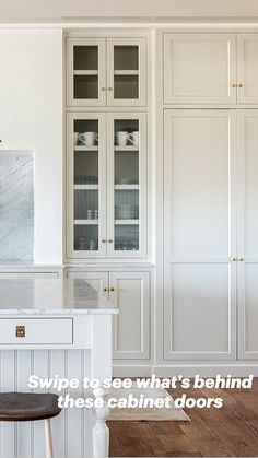 Kitchen Cabinets To Ceiling, Glass Kitchen Cabinet Doors, Kitchen Pantry Cabinets, Kitchen Cabinet Colors, Kitchens With White Cabinets, Tall Pantry Cabinet, Wall Pantry, Classic Kitchen Cabinets, Types Of Kitchen Cabinets