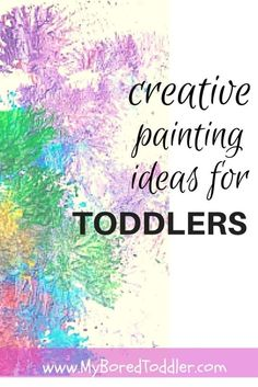 MORE Toddler Painting Ideas! - Different ways to be creative Indoor Activities, Craft Activities For Kids, Infant Activities, Preschool Activities, Crafts For Kids, Educational Activities, Preschool Art, Toddler Preschool, Toddler Crafts