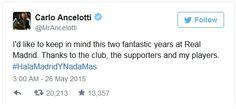 Hal mengundang simpati di jajaran klub, baik staff pelatih, para pemain,fans yang menginginkan Ancelotti tetap bertahan begitu juga para agen bola agen bola, bandar bola, pengganti ancelotti, pemecatan ancelotti, berita bola terkini, berita real madrid