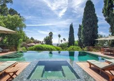 Songwriter's Paradise: Sheryl Crow's Spanish revival Hollywood home features a resort-worthy infinity pool.