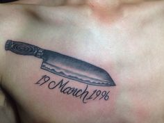 Knife tattoo
