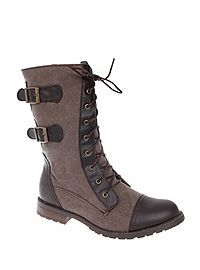 HOTTOPIC.COM - Brown Force Combat Boot