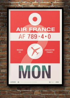 Neil Stevens has created a series of beautiful minimalist posters that are inspired by old airline baggage tags.