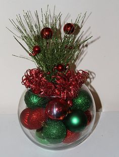 Items similar to Christmas Table Decor Centerpiece Red and Green for Holiday Home - Classic Xmas Decorations - Christmas Wedding - Corporate Party on Etsy Rose Gold Christmas Decorations, Xmas Table Decorations, Christmas Vases, Christmas Table Centerpieces, Green Christmas, Decoration Table, Christmas Holidays, Christmas Wreaths, Christmas Crafts