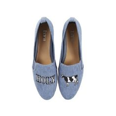 Bar Iii Bar Iii Opal Holy Cow Slip-On Shoes | Bluefly.Com (115 PLN) ❤ liked on Polyvore featuring shoes, blue, wingtip shoes, wingtip dress shoes, slip-on shoes, wing tip dress shoes and slip on shoes