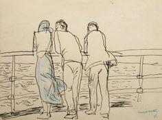 J. Czapski, On the ship, 1955,