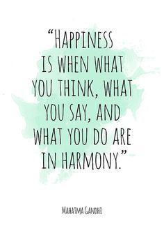 Happiness ... Mahatma Gandhi Alternative Watercolor by PhobosArt