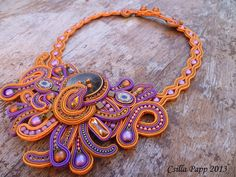 Manar  Csilla Papp 2013 Soutache Necklace, Tassel Earrings, Boho Jewelry, Jewlery, Beaded Embroidery, Beads, Beadwork, Leather, Handmade