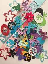 SCRAPBOOKING PAPER PUNCHES / DIE CUTS 200++ Pieces -USING ACID FREE CARDSTOCK-