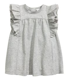 Premium Cotton Dress | Gray melange | Kids | H&M US
