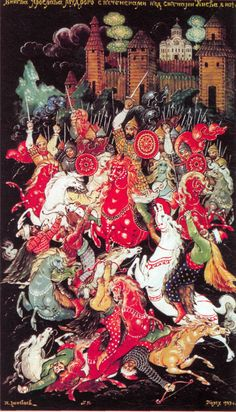 Battle of Yaroslav Mudry with Pechenegs over the walls of Kiev