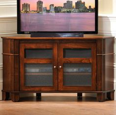 Solid Wood Amish Made Arlington Heights Corner TV Console