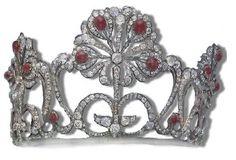 I think I need this...Ruby and Diamond Tiara, Grand Duchess Marie Alexandrowna of Russia