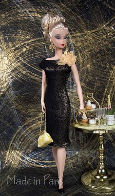 """Black and Gold Reflection"" for Silkstone Barbie"
