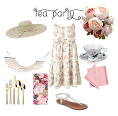 """Pretty Pink Tea Party"" by briannadyches ❤ liked on Polyvore featuring interior, interiors, interior design, home, home decor, interior decorating, Miss Selfridge, Threshold, Fits and DAY Birger et Mikkelsen"