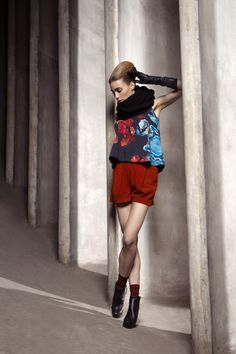 Hannah Top & Paula Leather Shorts Fall Winter, Autumn, Leather Shorts, Ballet Skirt, Skirts, Tops, Fashion, Moda, Tutu
