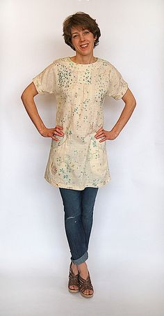 I'd like to use my Japanese double gauze for this tunic. Lisette pattern on sale at JoAnn for 99 cents.