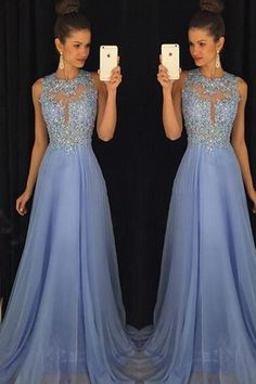 b305386629c1 Blue Prom Dresses Elegant Evening Dresses Beaded Party Dresses PG376