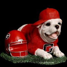 Glory Glory -- Georgia Bulldog Merchandise - UGA Georgia Bulldog Resin Dawg-In-Training Figurine