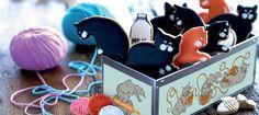 Cat biscuits + fish bones from Biscuiteers