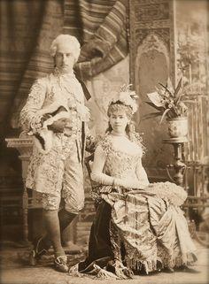 "Vanderbilts in fancy dress 1890s Etiquipedia: ""French Leave"""