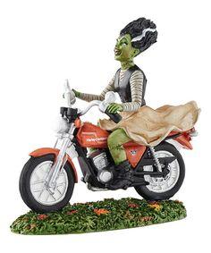 Look what I found on #zulily! Halloween Village Harley-Davidson Ride Away Bride Figurine #zulilyfinds