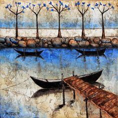 Michel RAUSCHER   Peintures - Huile sur toile - 30 x 30 cm - 2012