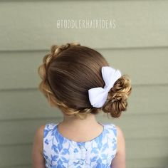 A fluffy wrap-around pull-through braid into a messy side bun! #toddlerhair #toddlerhairideas #toddlerhairstyles #hairideas #toddlerstyle #easyhairstyle #littlegirlhair #toddler #hairstylesforgirls #kidhairstyles #toddlersofIG #toddlersofinstagram #braidsforlittlegirls #instabraid #childrenofinstagram #toddlerlife #ontheblog #hairofinstagram #braid #blogger #instahair
